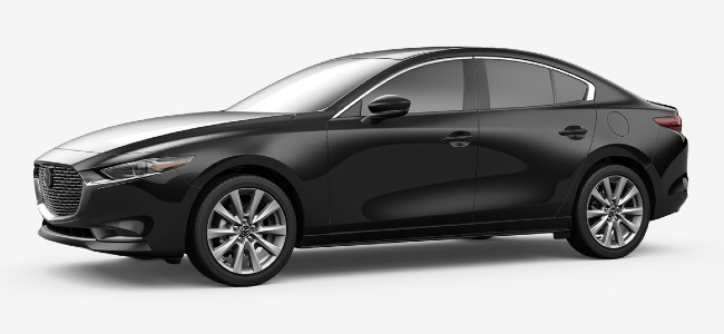 2020 Mazda 3 sedan in Jet Black Mica