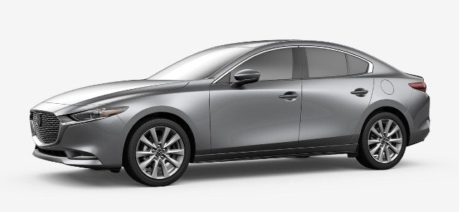 2020 Mazda 3 sedan in Machine Gray Metallic