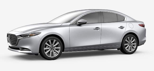 2020 Mazda 3 sedan in Sonic Silver Metallic