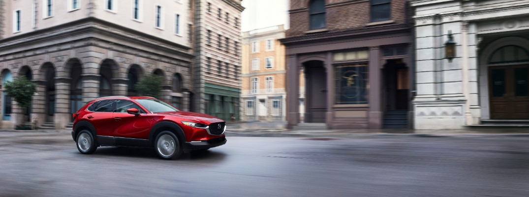 2020 Mazda CX-30 driving downtown