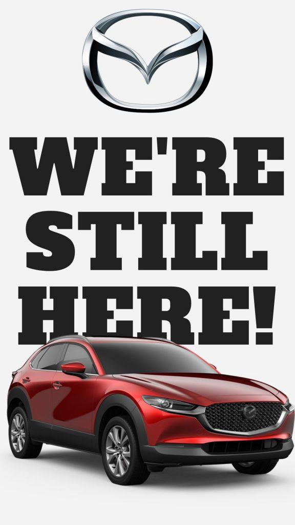 Mazda model we're still here