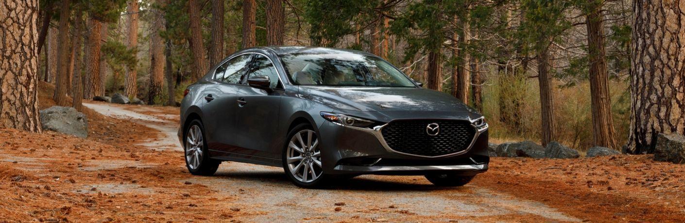 2020 Mazda3 sedan in forest