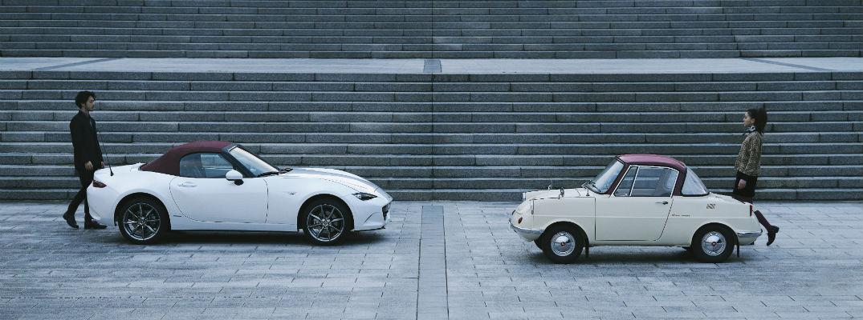 100th Anniversary Special Edition Mazda MX-5 Miata model with classic model