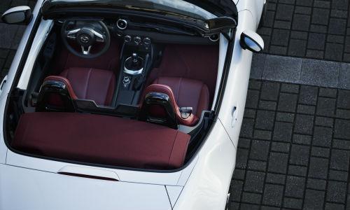 Overhead view of 100th Anniversary Special Edition Mazda MX-5 Miata