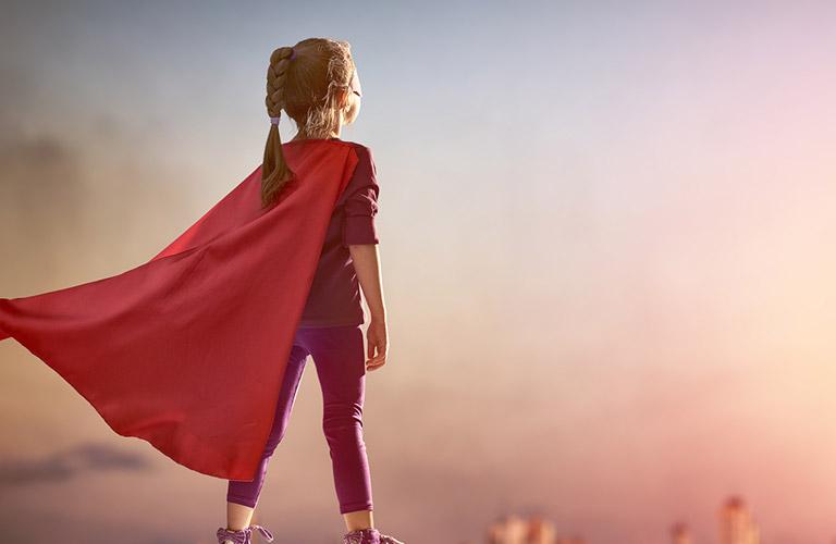 Girl in Superhero Costume