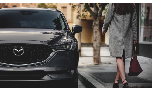 2021 Mazda CX-5 front view by side of road