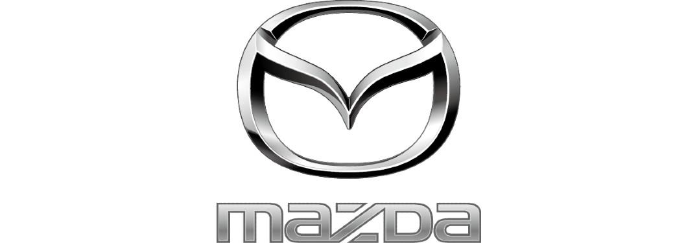 Mazda Logo monochomatic on white background