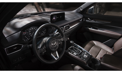 2021 Mazda CX-5 interior view of front cabin through driver window