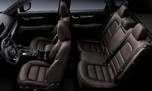 2021 Mazda CX-5 angled hovering view of interior