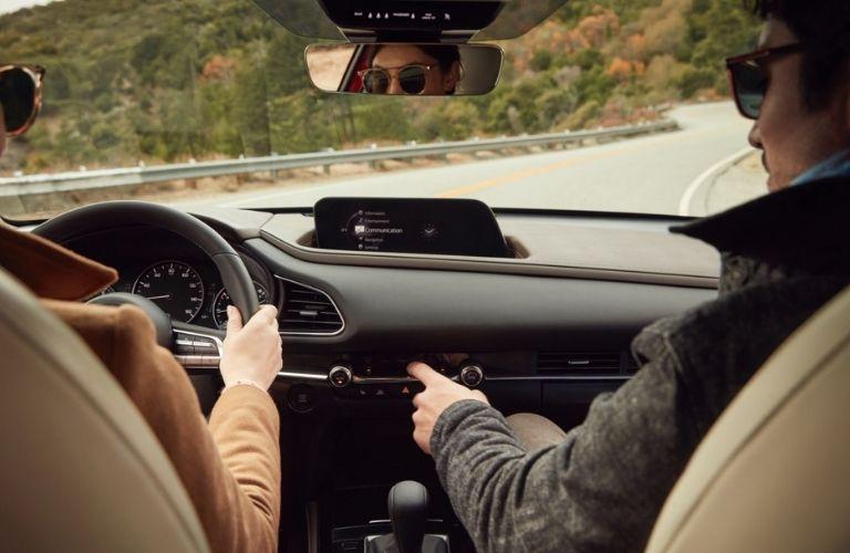 2021 Mazda CX-30 interior dash and wheel