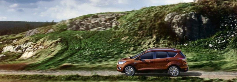 2018 Ford Escape orange side view