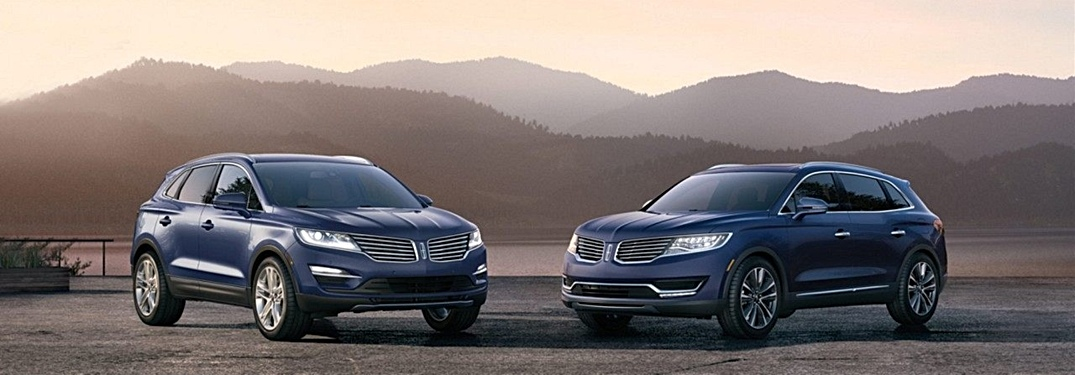 2018 Lincoln MKC and MKX in blue side by side