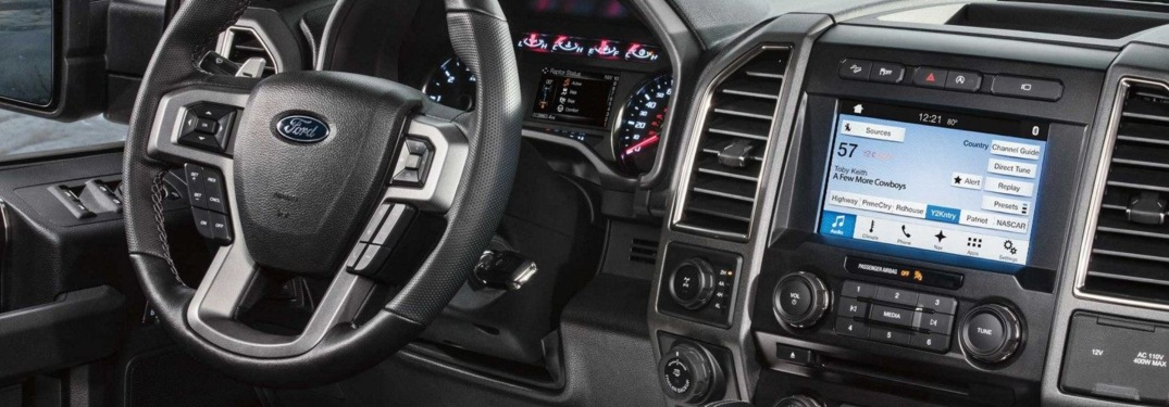 2018 Ford F-150 Raptor with infotainment screen