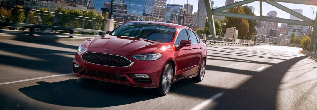 2019 Ford Fusion Sport red front view