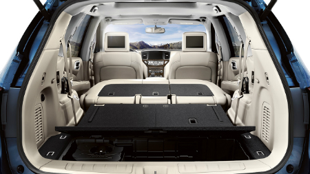 how much can you fit in the 2018 nissan pathfinder. Black Bedroom Furniture Sets. Home Design Ideas
