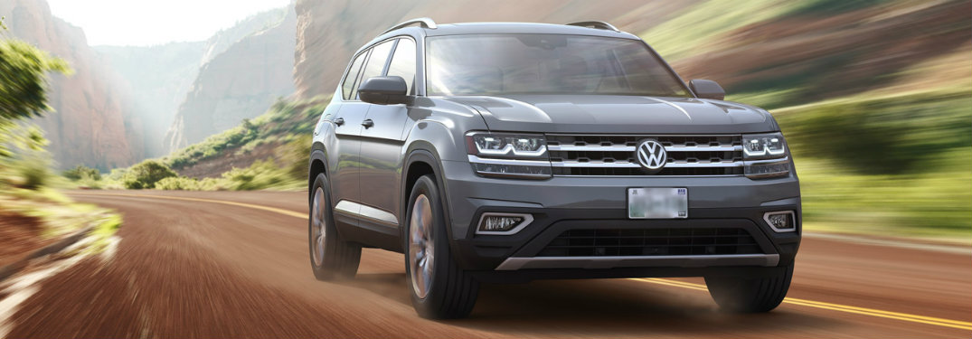 2018 Volkswagen Atlas front exterior view on road