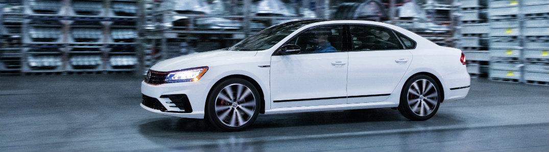 2018 Volkswagen Passat GT white side exterior
