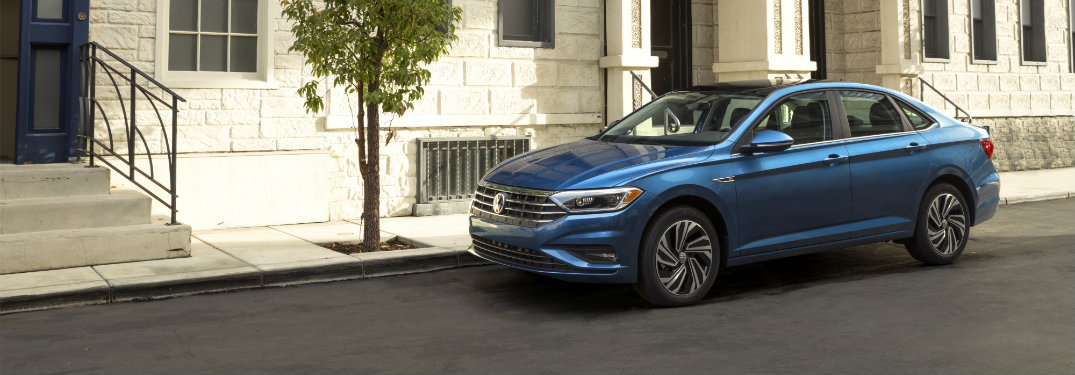 2019 Volkswagen Jetta blue exterior side view