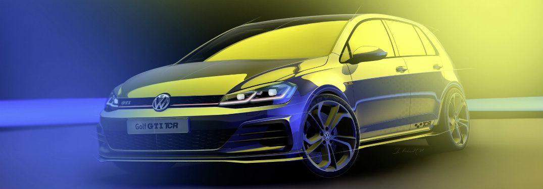 Side profile design sketch of the Golf GTI TCR