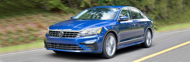 Bright blue 2018 Volkswagen Passat