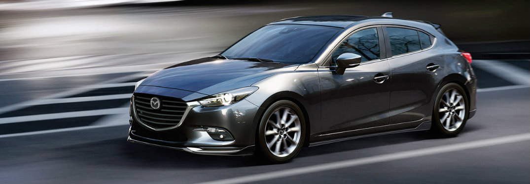 2018 Mazda3 Hatchback front exterior view on road