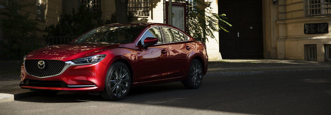 2018 Mazda6 front exterior view red on street