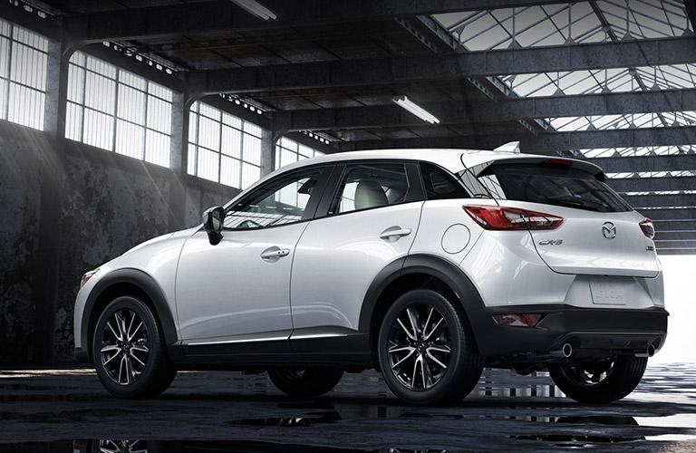 2018 Mazda CX-3 exterior white back view