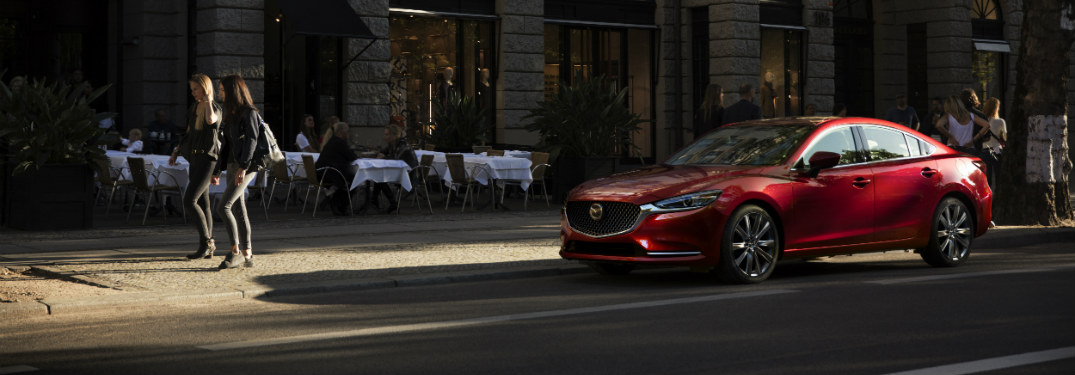 2018 Mazda6 exterior red parked on street