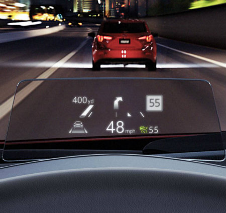 Mazda head-up display image