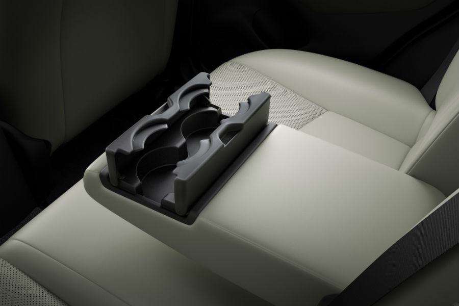 Another interior photo of the new cup holders in the center console of the 2019 CX-3.