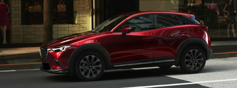 A left profile photo of the 2019 Mazda CX-5.