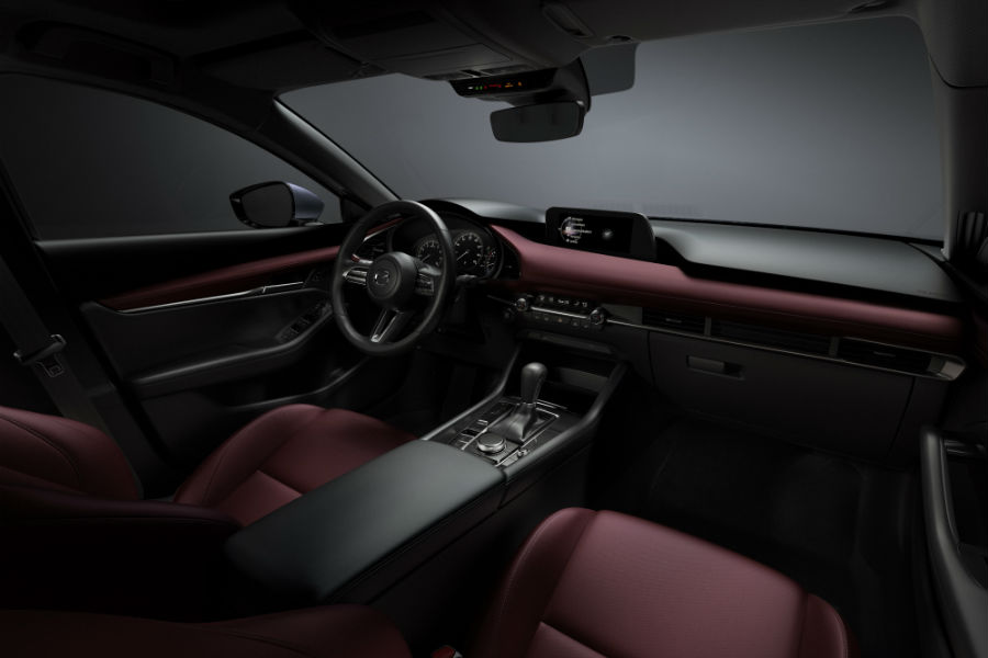 An interior photo of the all-new Mazda3.