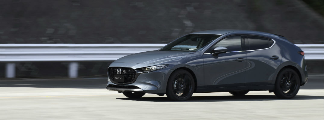 A left profile of the all-new Mazda3.