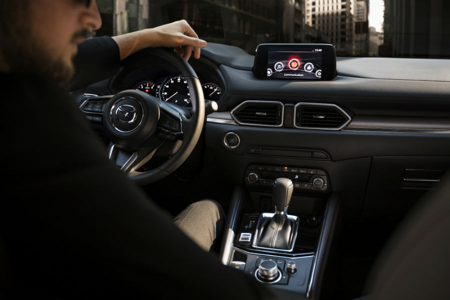 Another photo of the driver's cockpit in the 2019 Mazda CX-5.