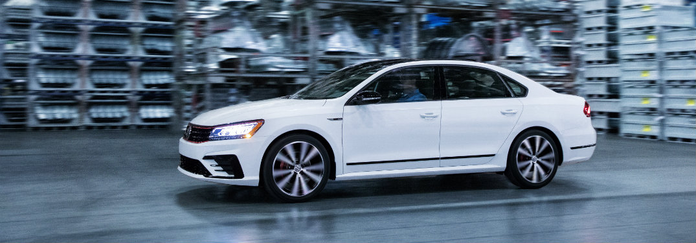 2018 Volkswagen Passat GT white exterior side