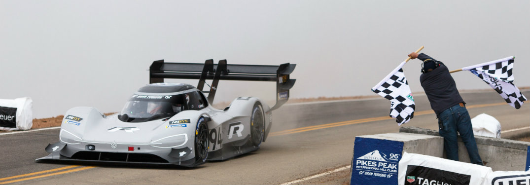 Volkswagen I.D. R Pikes Peak at finish line