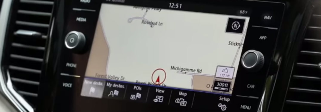 Touchscreen navigation in Volkswagen