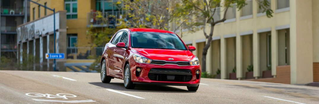 2018 Kia Rio Red in the City