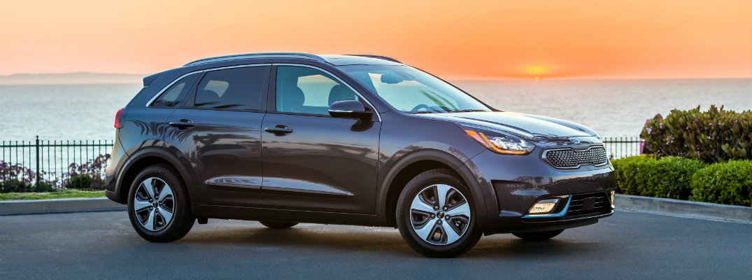 2018 Kia Niro Plug-In Hybrid parked at sunset