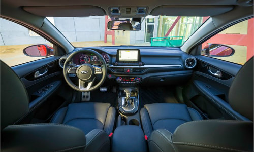 2019 Kia Forte interior dashboard and seating