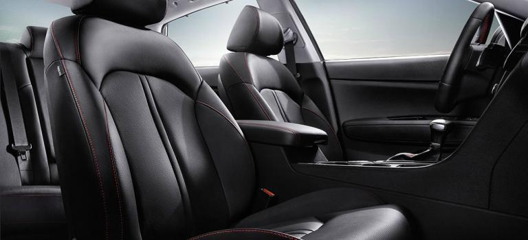 2018 Kia Optima black leather seats