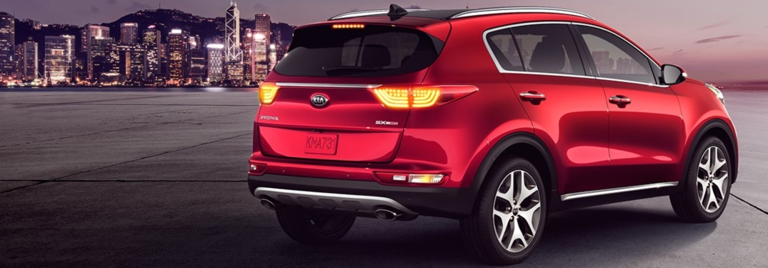 2018 Kia Sportage back view in red
