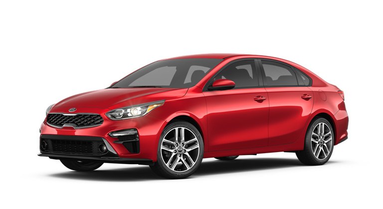 2019 Kia Forte Currant Red side view