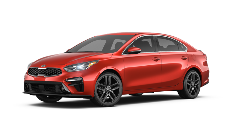 2019 Kia Forte Fire Orange side view