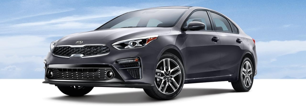 2019 Kia Forte gray side view