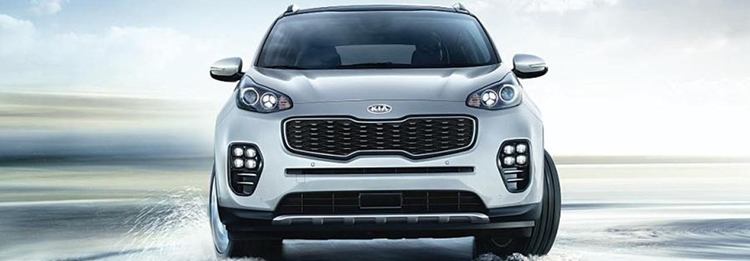 2019 Kia Sportage silver front view in water