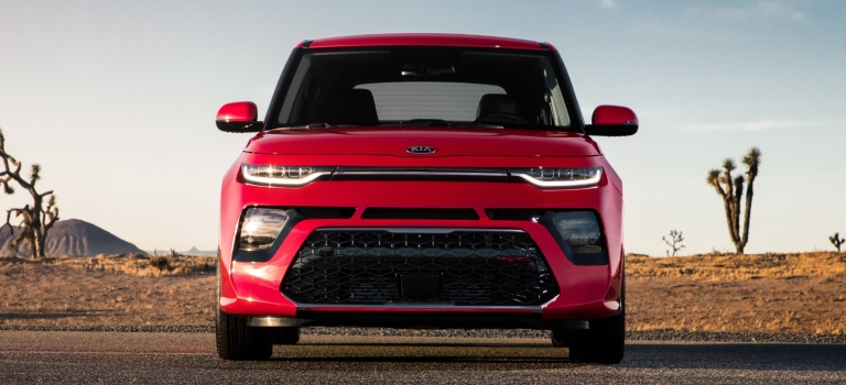 2020 Kia Soul red front view