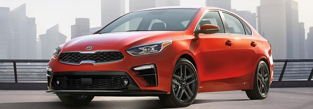 2019 Kia Forte red side view