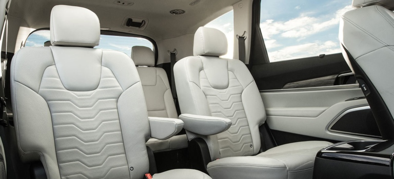 2020 Kia Telluride back seat leather gray