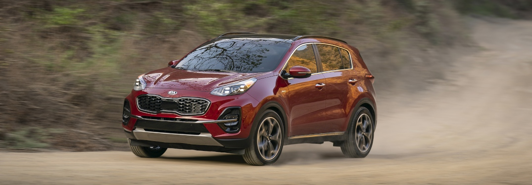 Interior and exterior 2020 Sportage color options